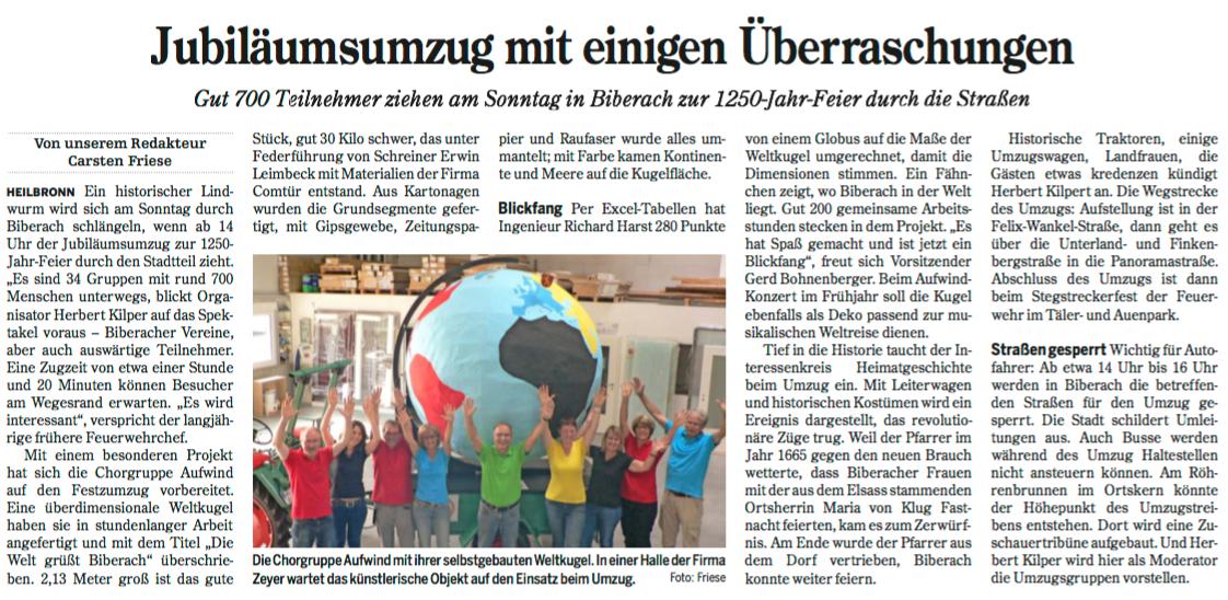 Heilbronner Stimme vom 01.07.2016