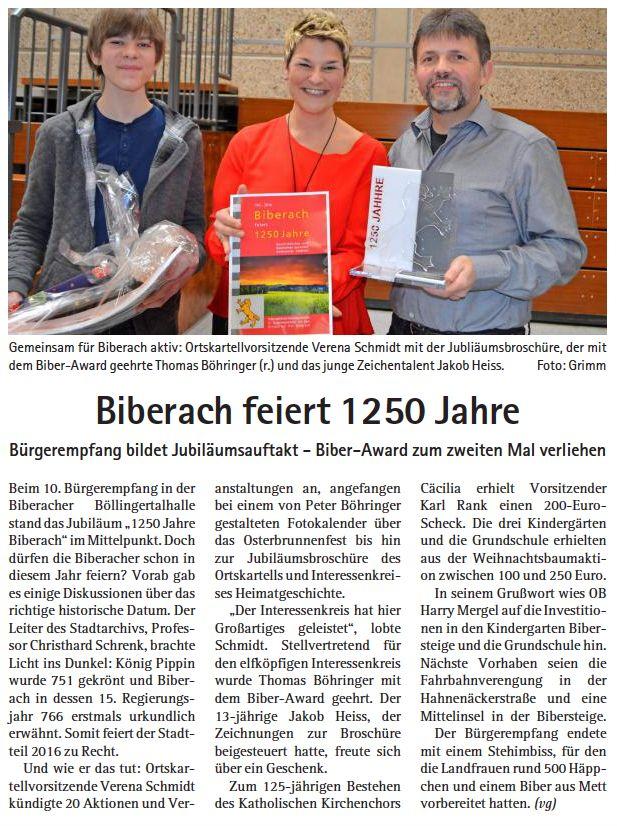 Heilbronner Stadtzeitung vom 04.02.2016