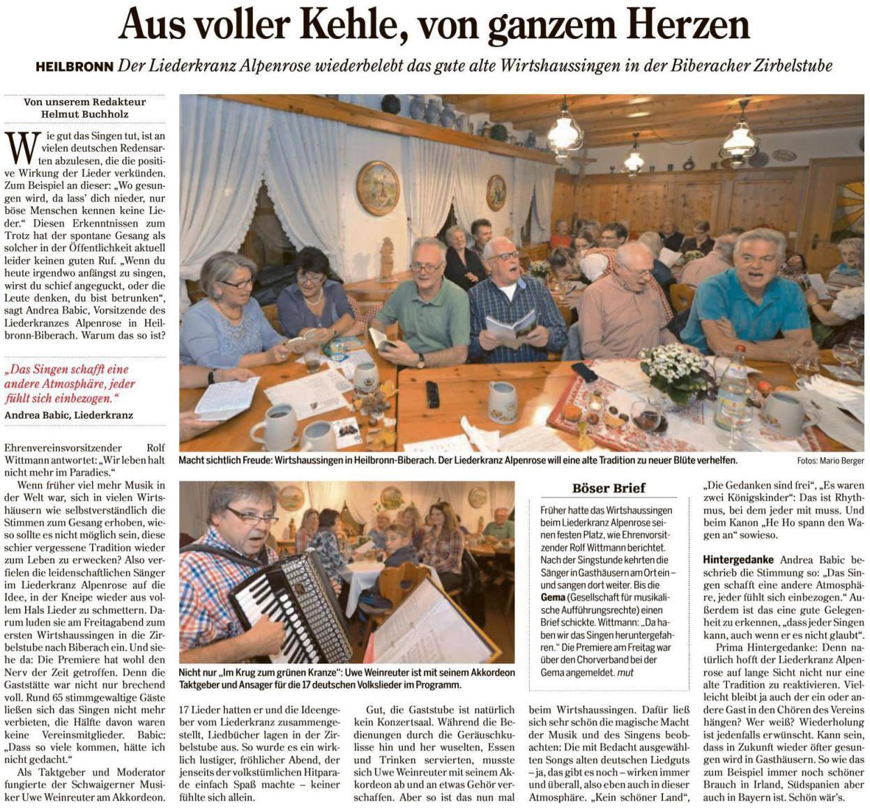 Heilbronner Stimme vom 09.11.2015