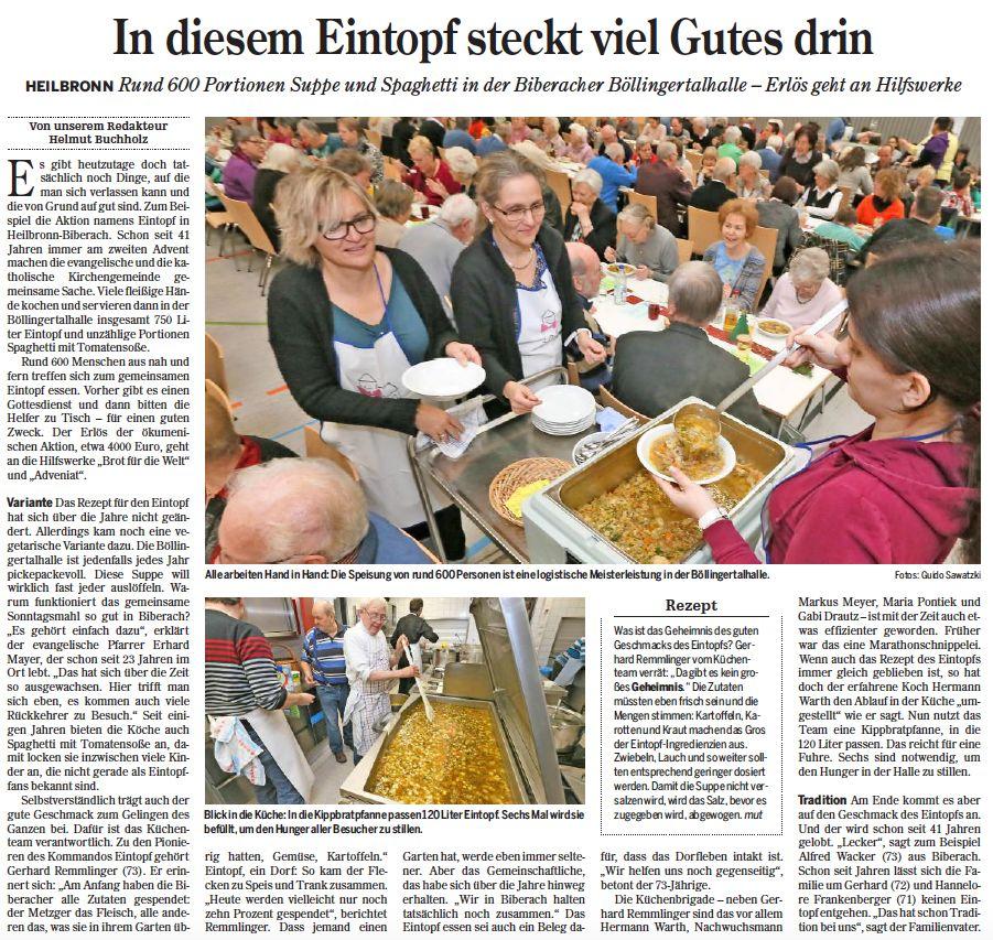Heilbronner Stimme vom 07.12.2015