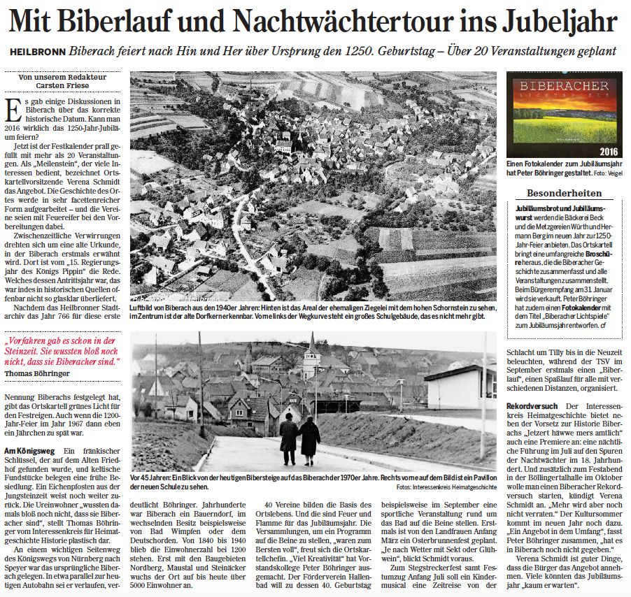 Heilbronner Stimme vom 29.12.2015