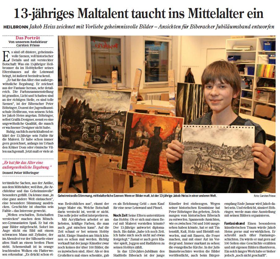 Heilbronner Stimme vom 22.01.2016