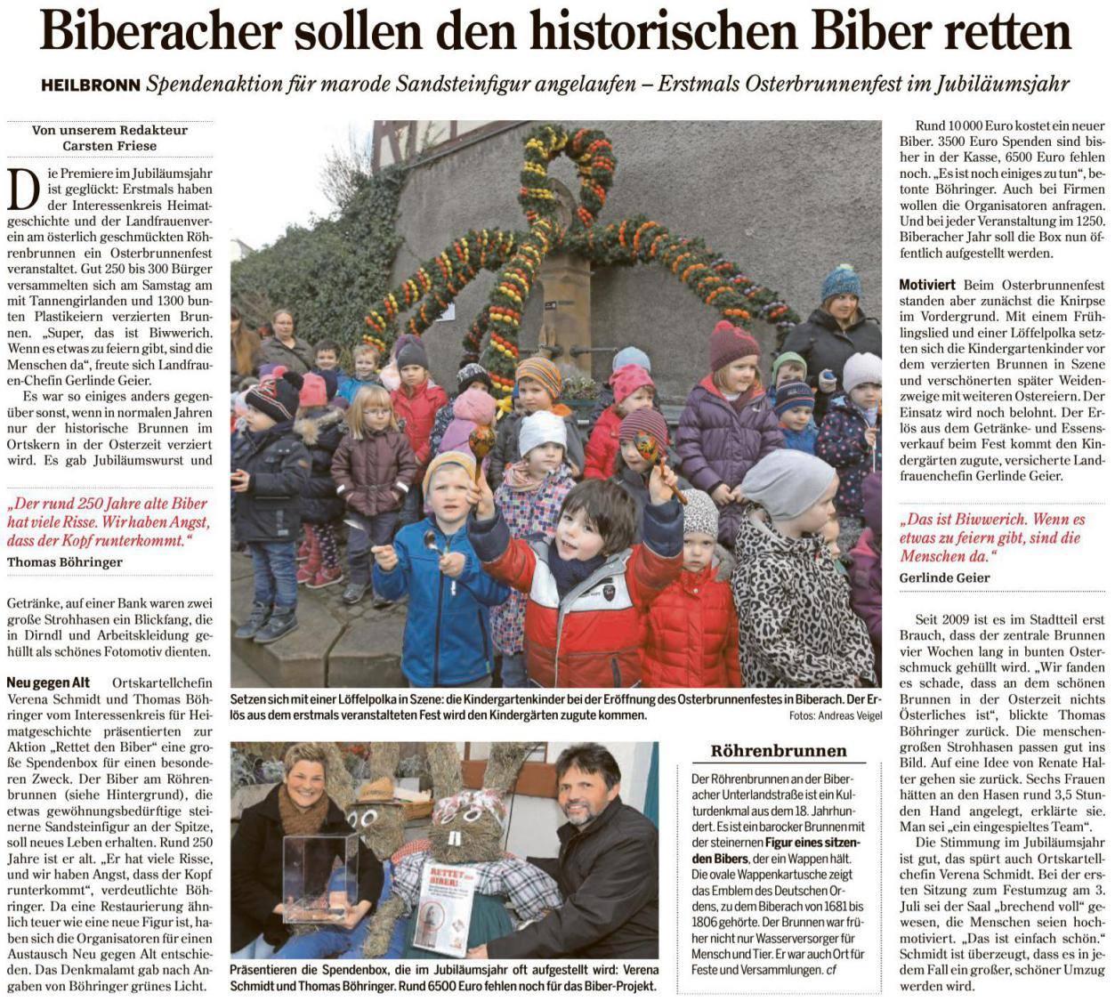 Heilbronner Stimme vom 14.03.2016