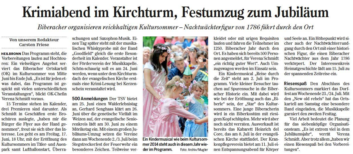 Heilbronner Stimme vom 27.05.2016
