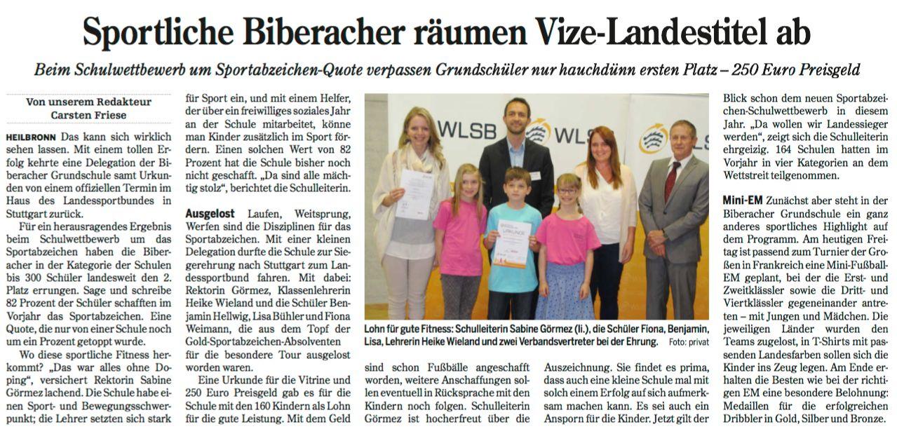 Heilbronner Stimme vom 16.06.2016