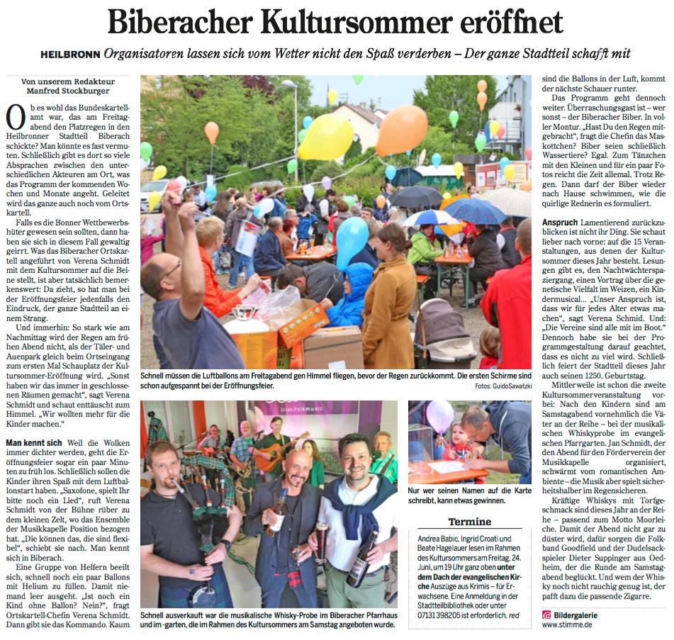 Heilbronner Stimme vom 20.06.2016