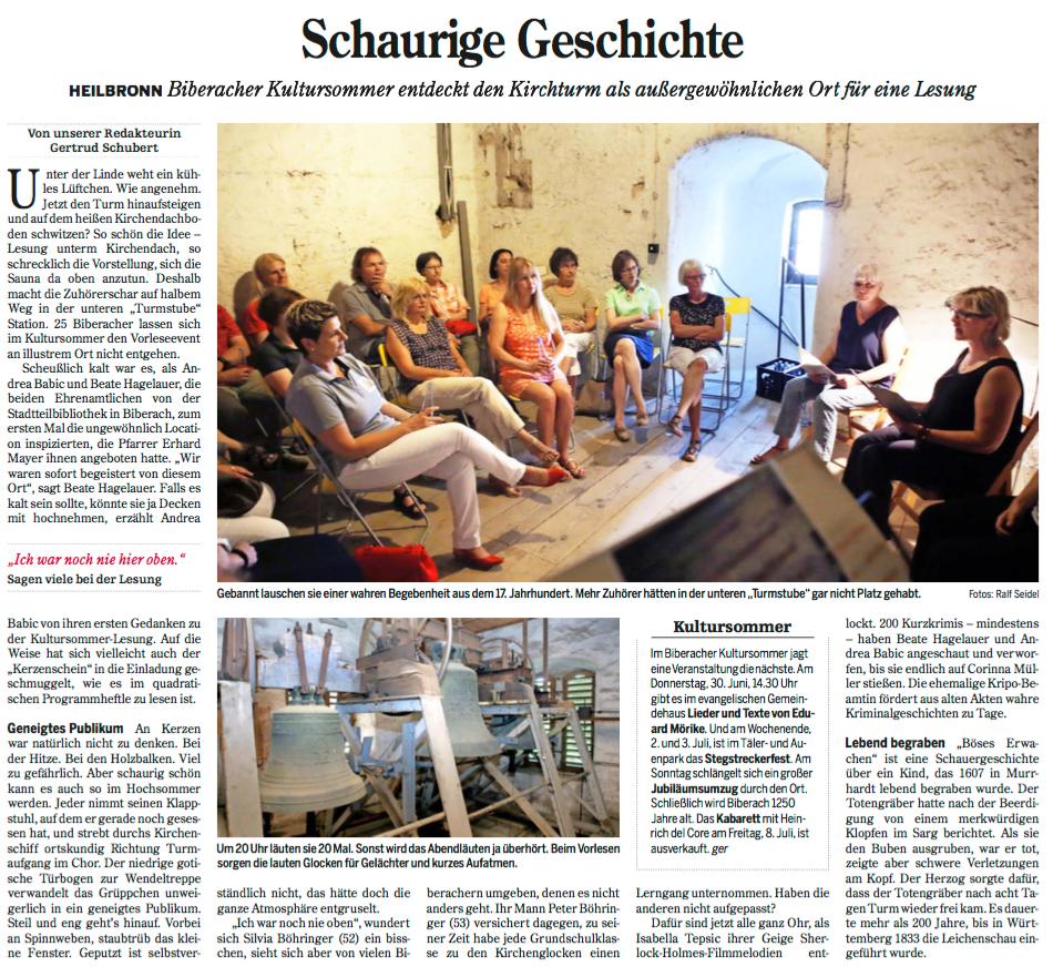 Heilbronner Stimme von 27.06.2016