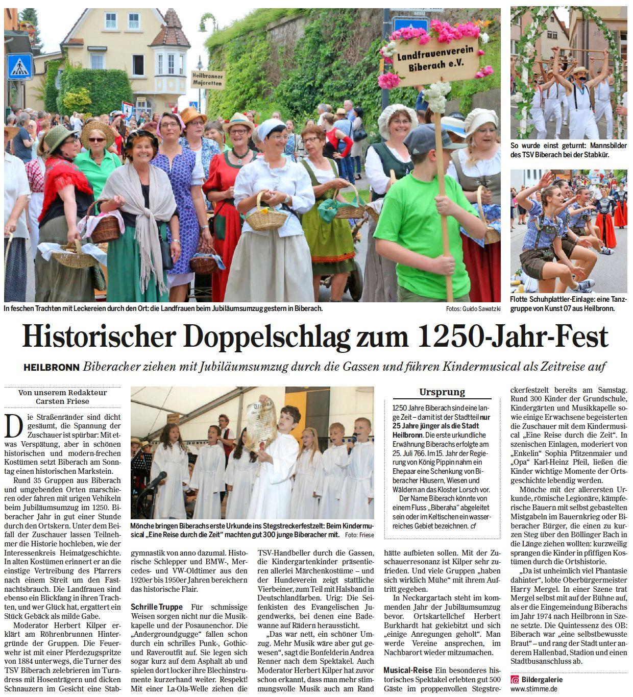 Heilbronner Stimme vom 04.07.2016