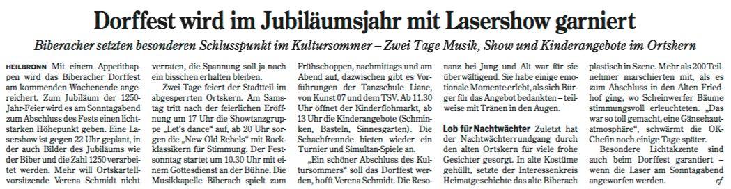 Heilbronner Stimme vom 21.07.2016